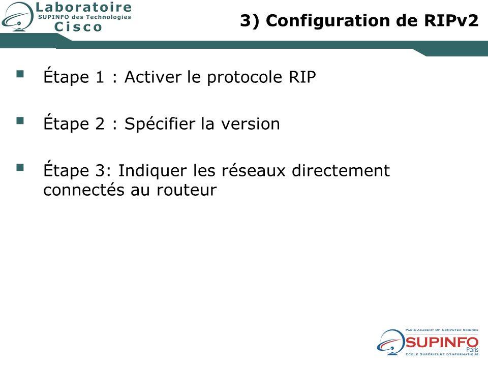 3) Configuration de RIPv2