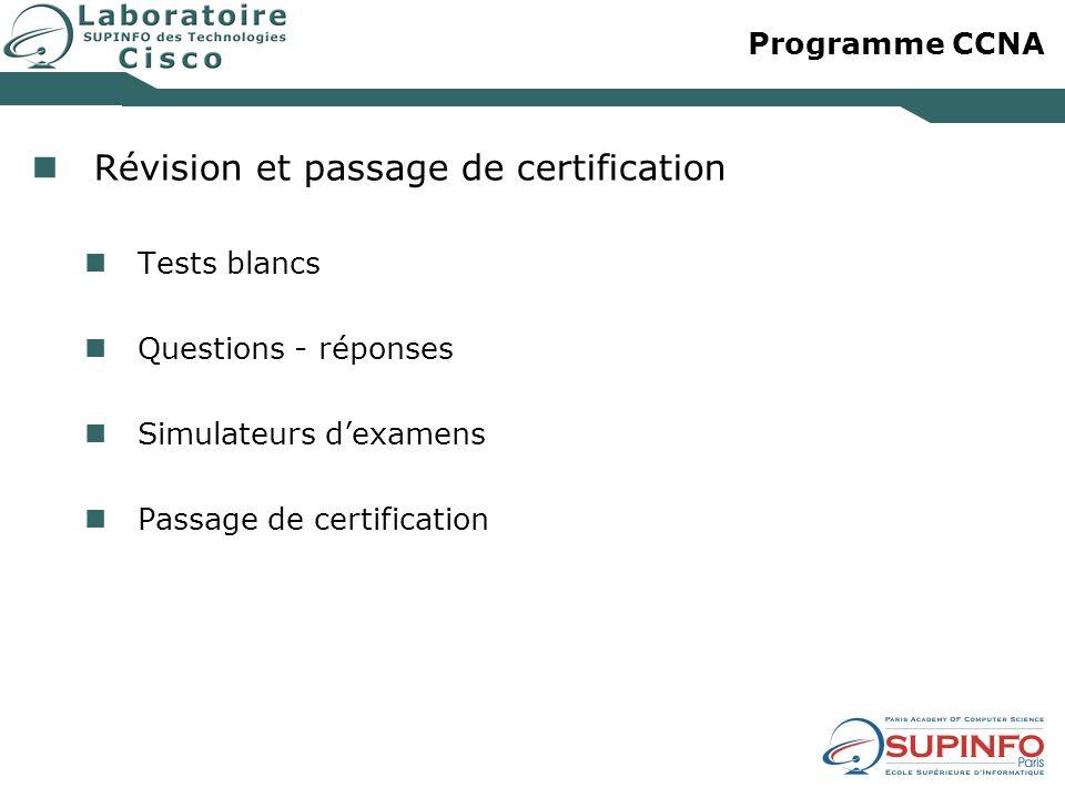 Révision et passage de certification