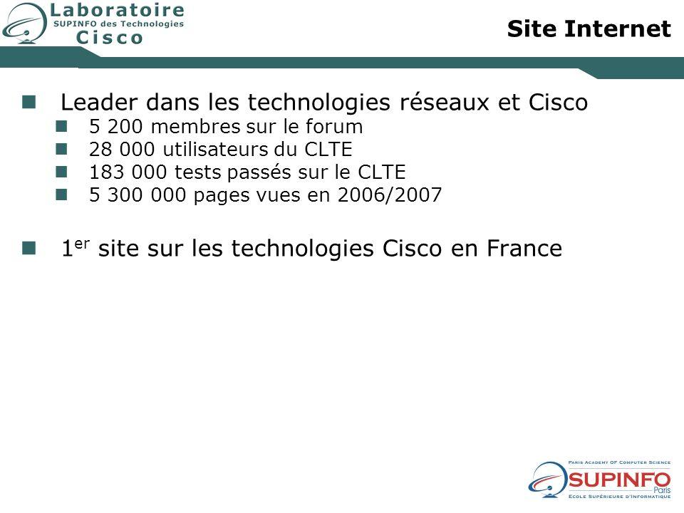Leader dans les technologies réseaux et Cisco