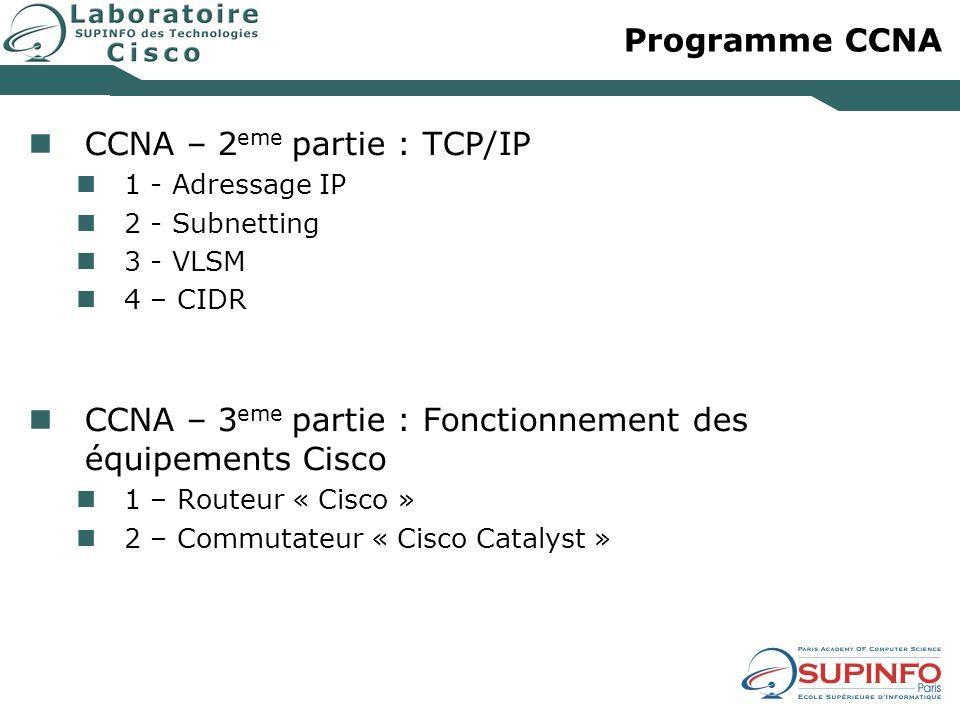 CCNA – 2eme partie : TCP/IP