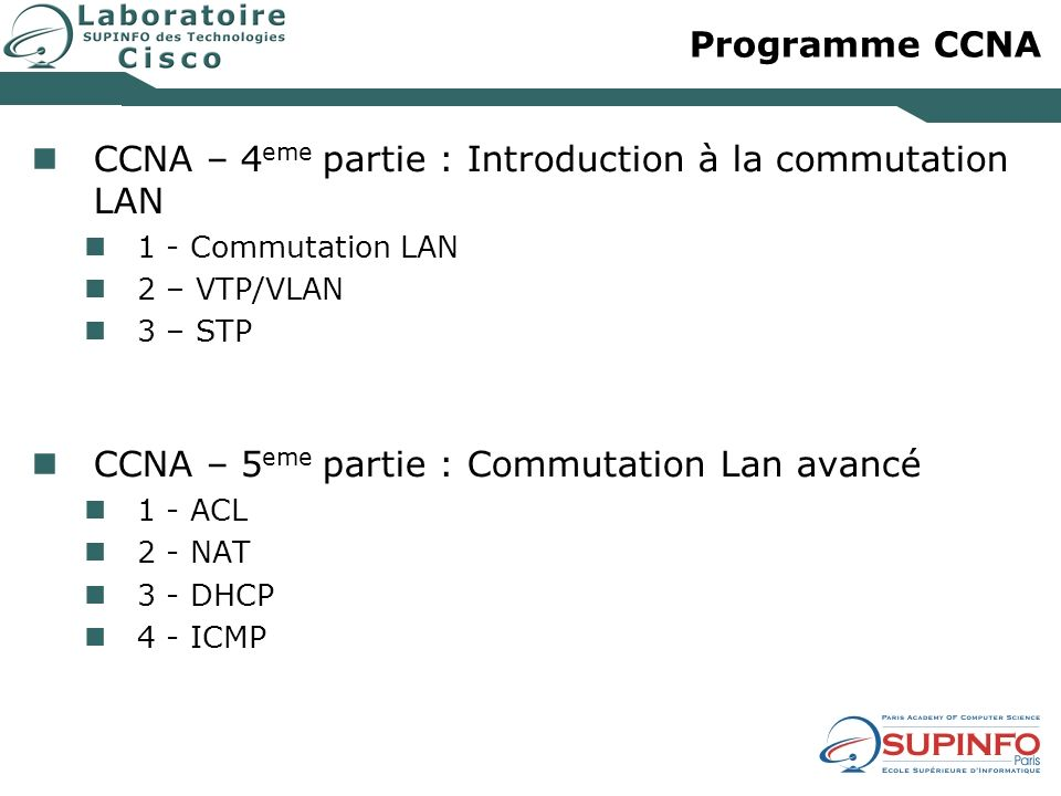 CCNA – 4eme partie : Introduction à la commutation LAN