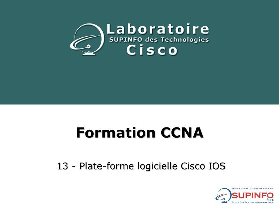 13 - Plate-forme logicielle Cisco IOS