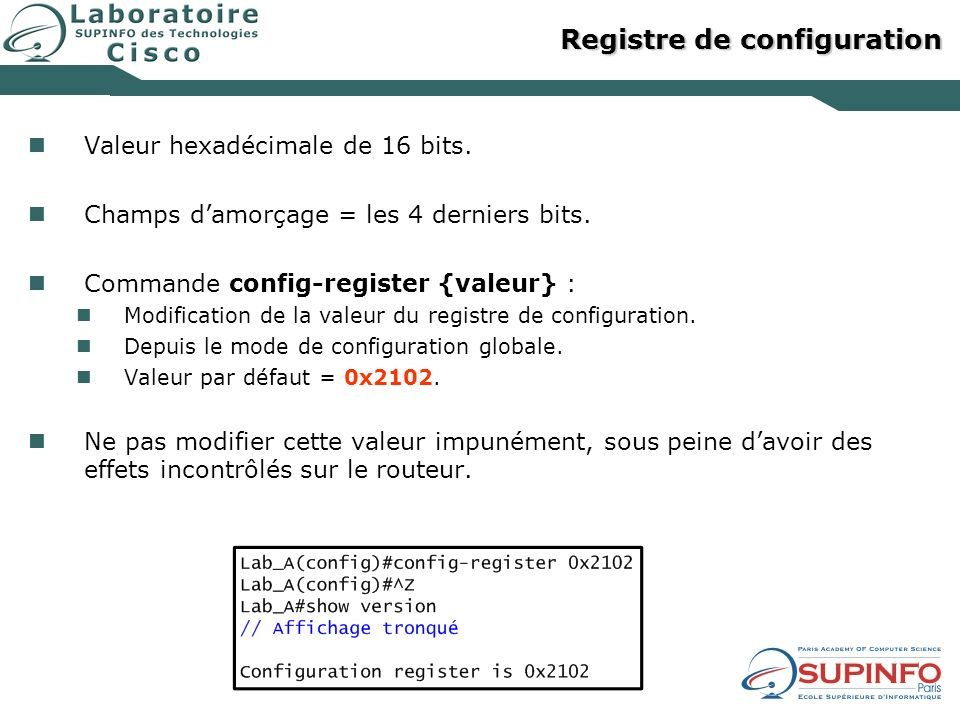 Registre de configuration