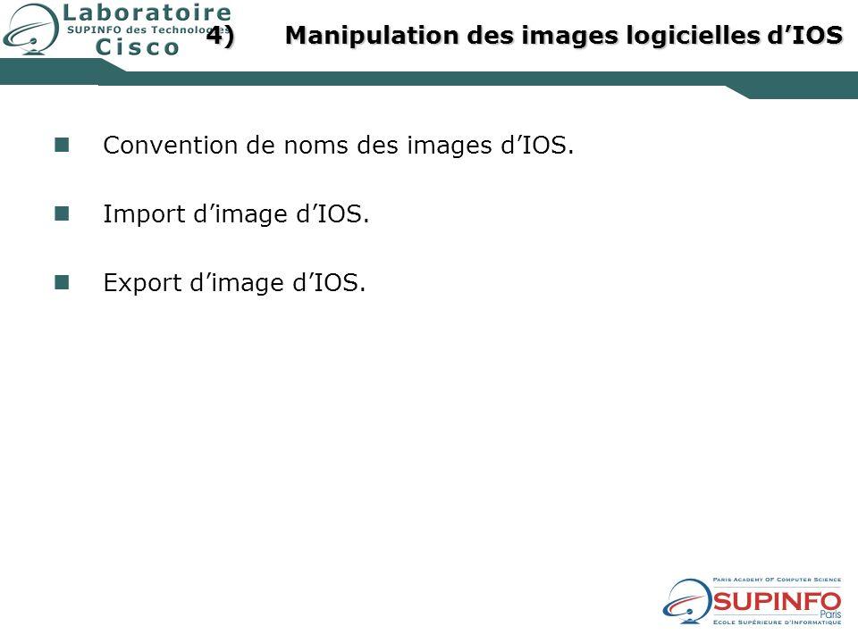 Manipulation des images logicielles d'IOS