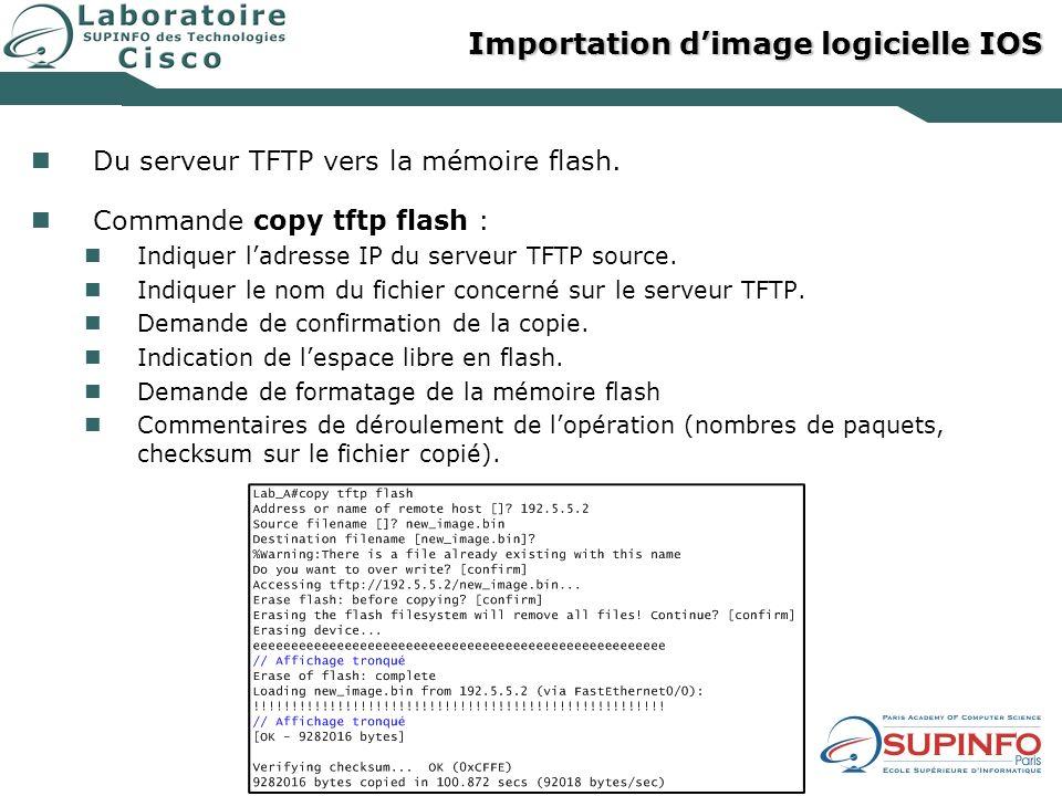 Importation d'image logicielle IOS
