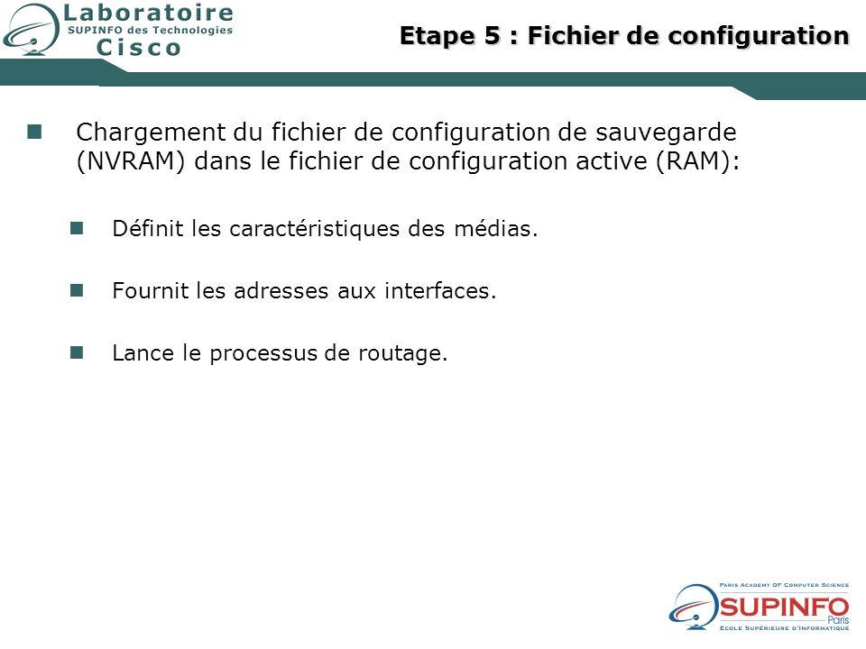 Etape 5 : Fichier de configuration