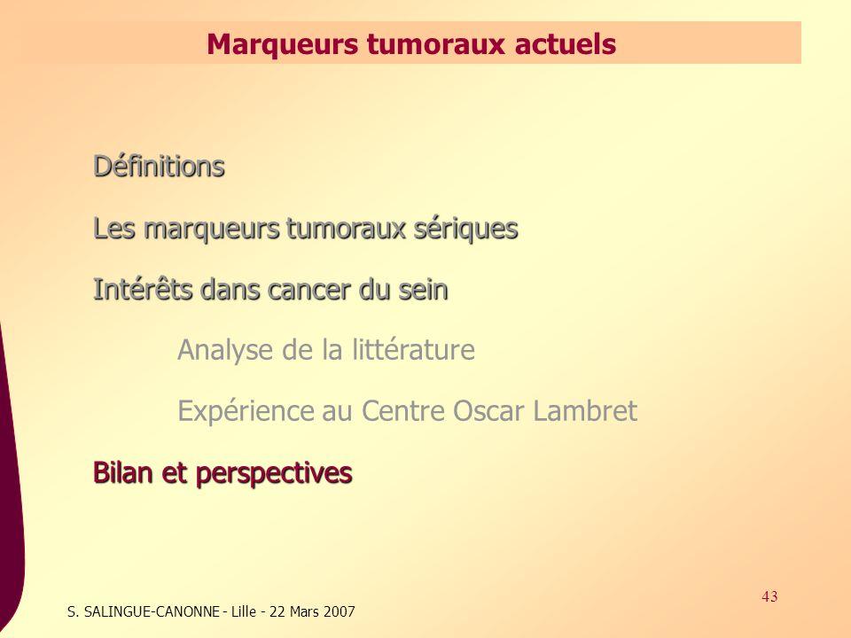 Marqueurs tumoraux actuels