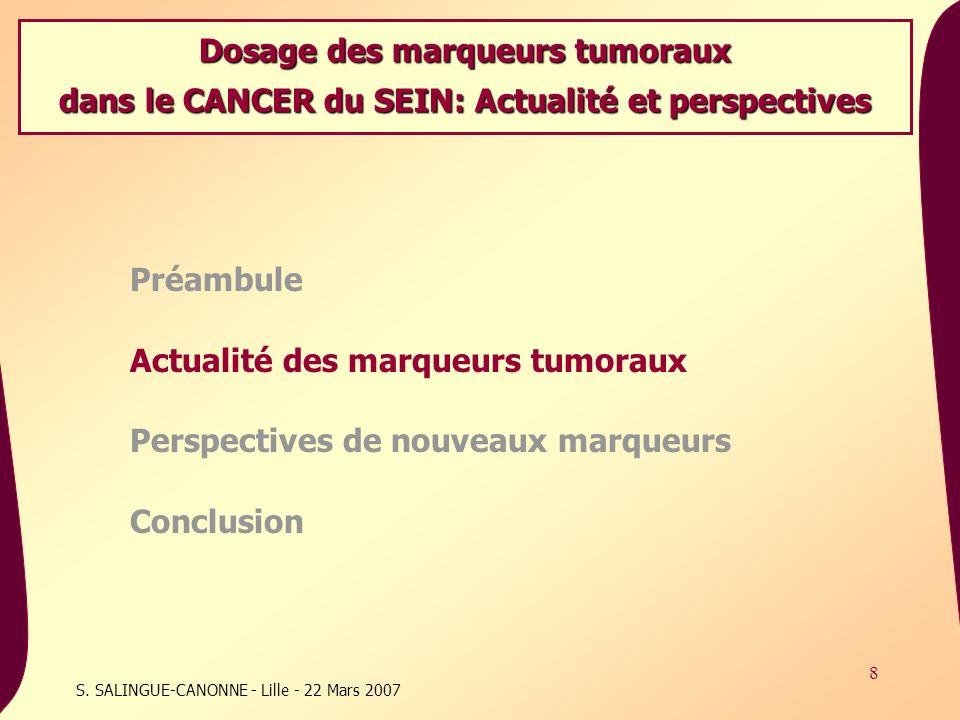 Dosage des marqueurs tumoraux
