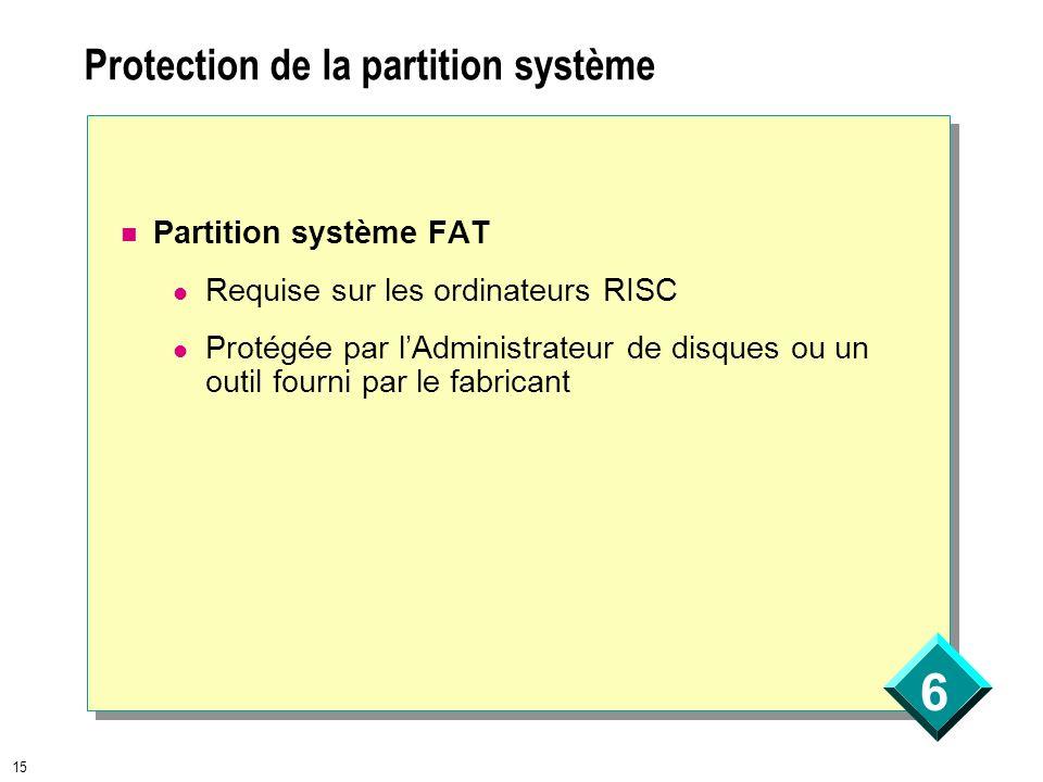 Protection de la partition système