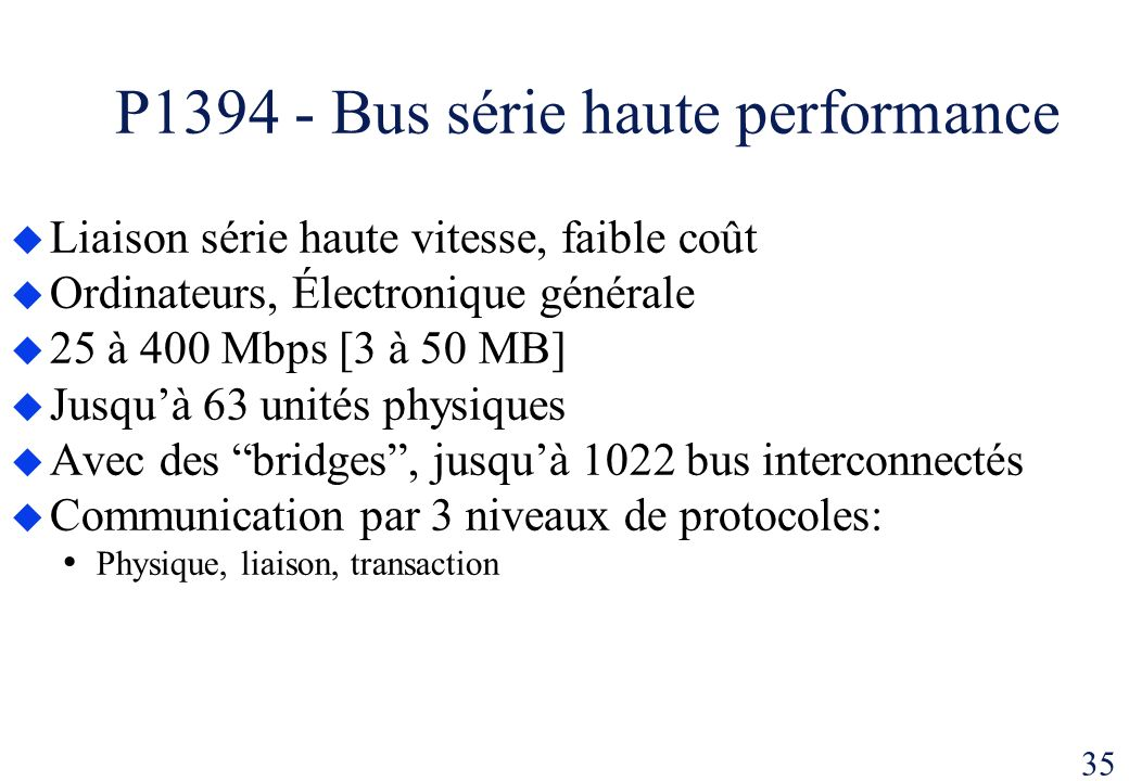 P1394 - Bus série haute performance