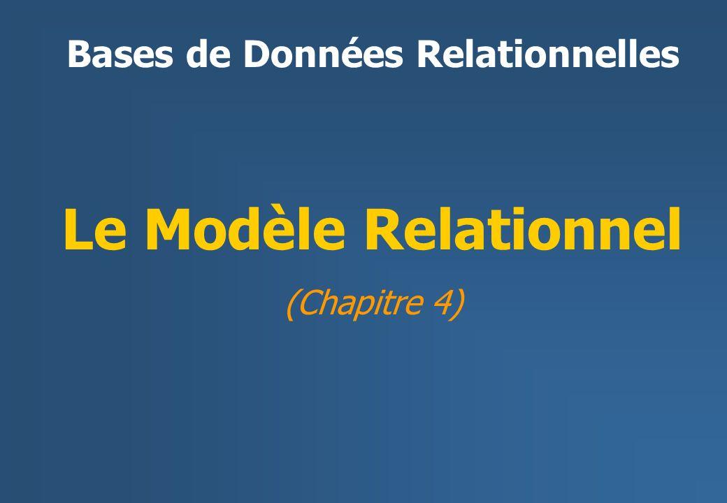 Le Modèle Relationnel (Chapitre 4)