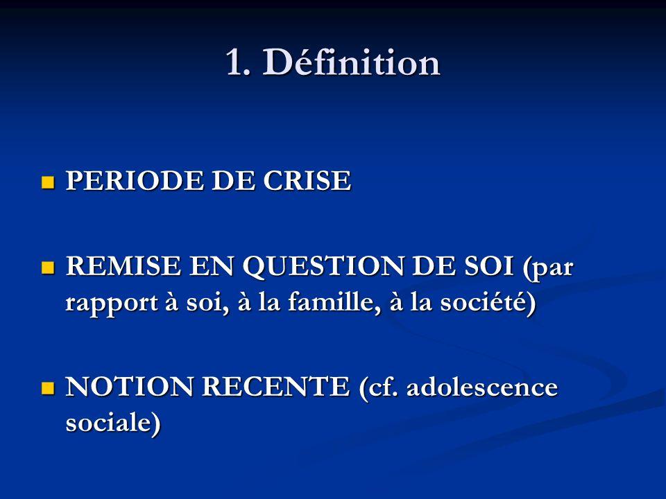 1. Définition PERIODE DE CRISE