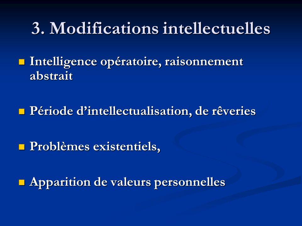 3. Modifications intellectuelles