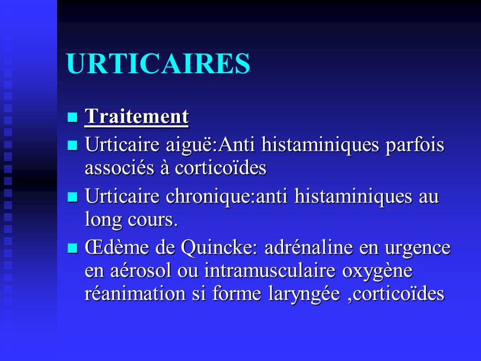 URTICAIRES Traitement