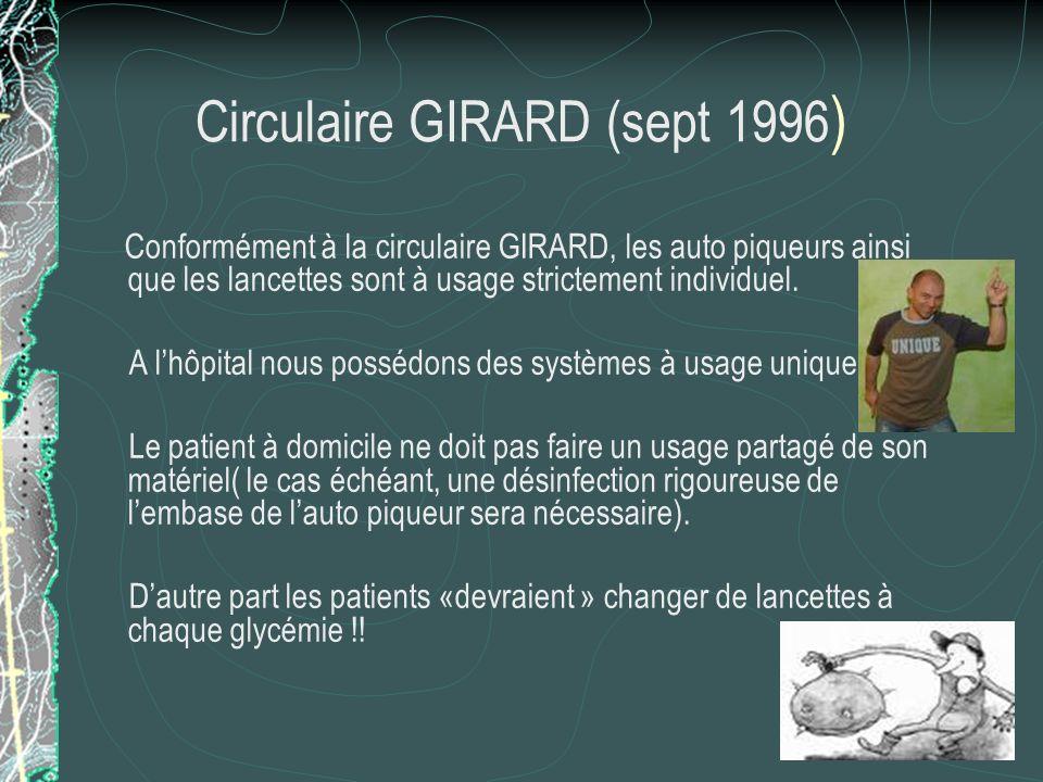 Circulaire GIRARD (sept 1996)