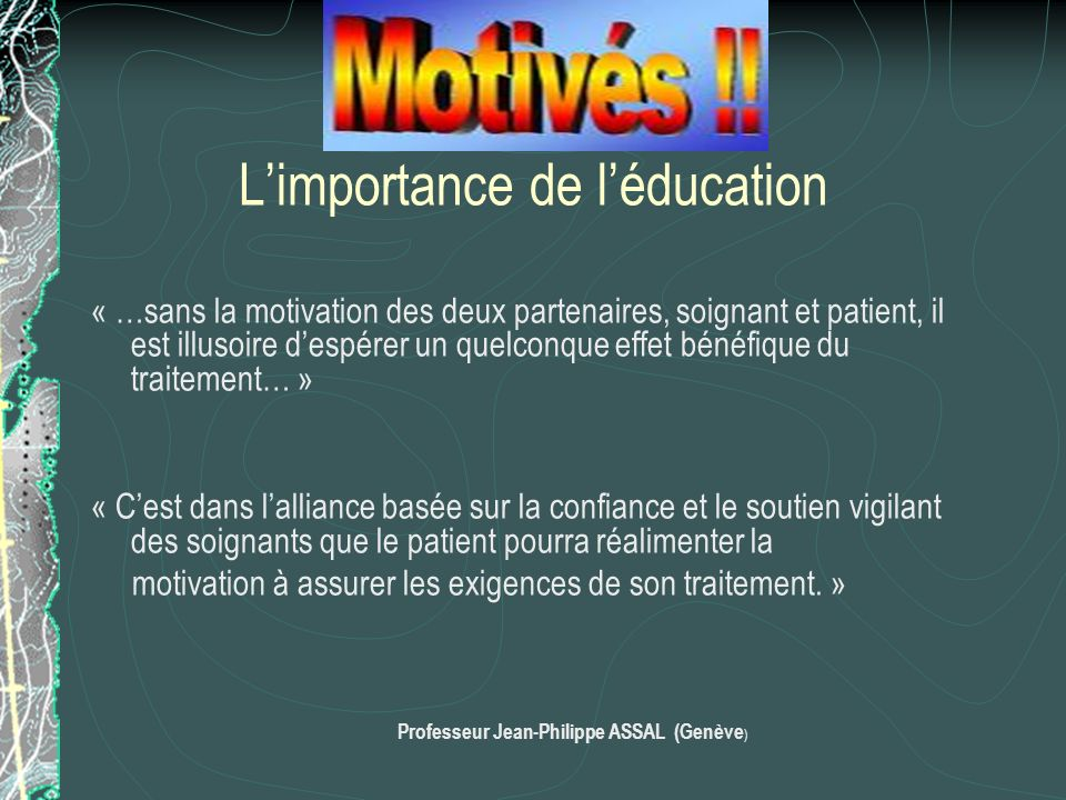 L'importance de l'éducation