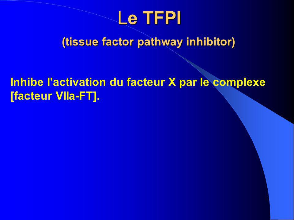 Le TFPI (tissue factor pathway inhibitor)