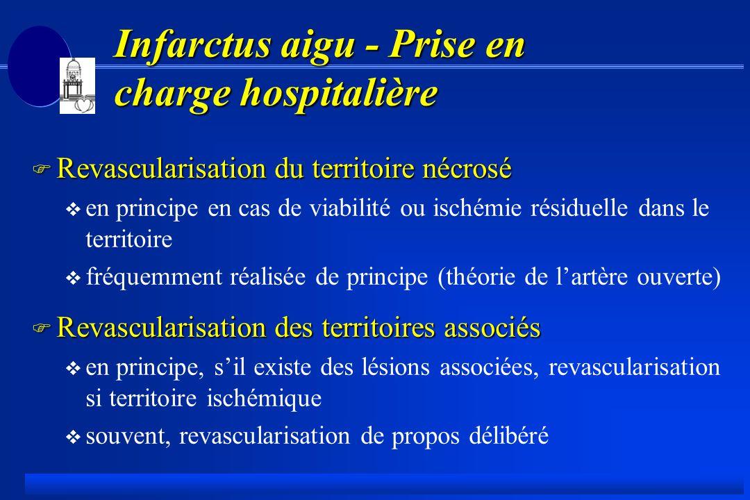 Infarctus aigu - Prise en charge hospitalière