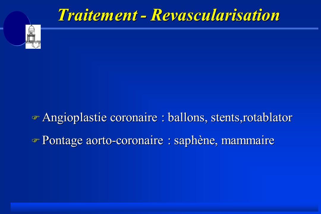 Traitement - Revascularisation