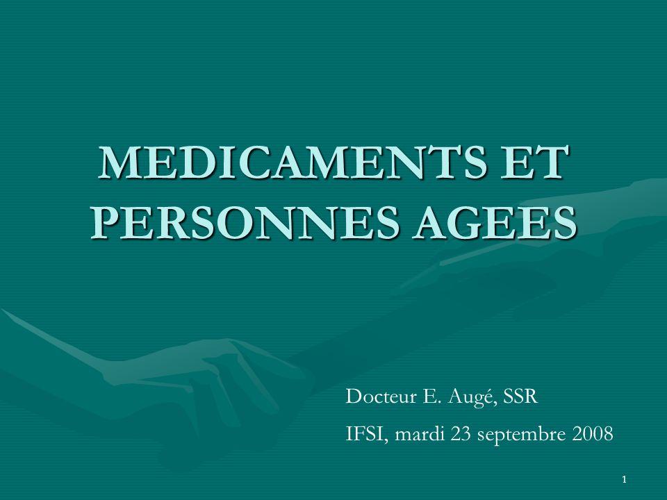 MEDICAMENTS ET PERSONNES AGEES