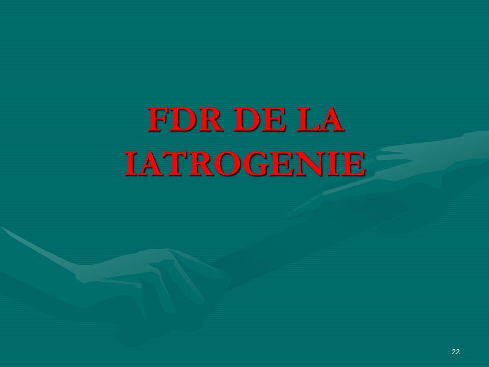 FDR DE LA IATROGENIE