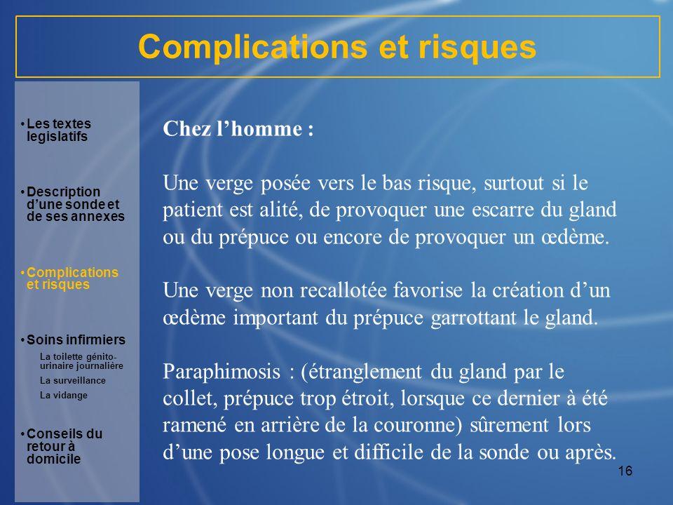 Complications et risques