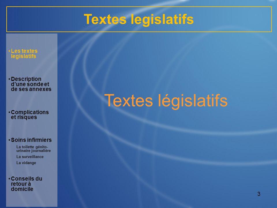 Textes législatifs Textes legislatifs Les textes legislatifs