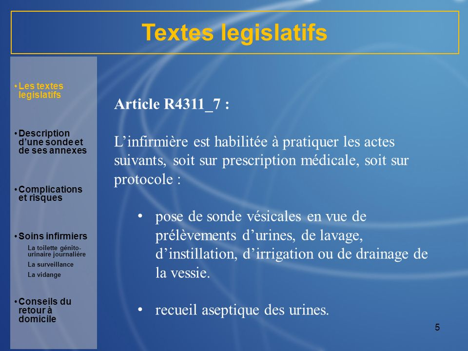 Textes legislatifs Article R4311_7 :