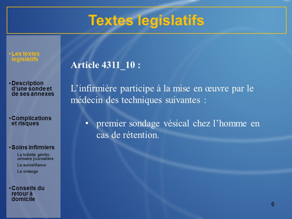 Textes legislatifs Article 4311_10 :