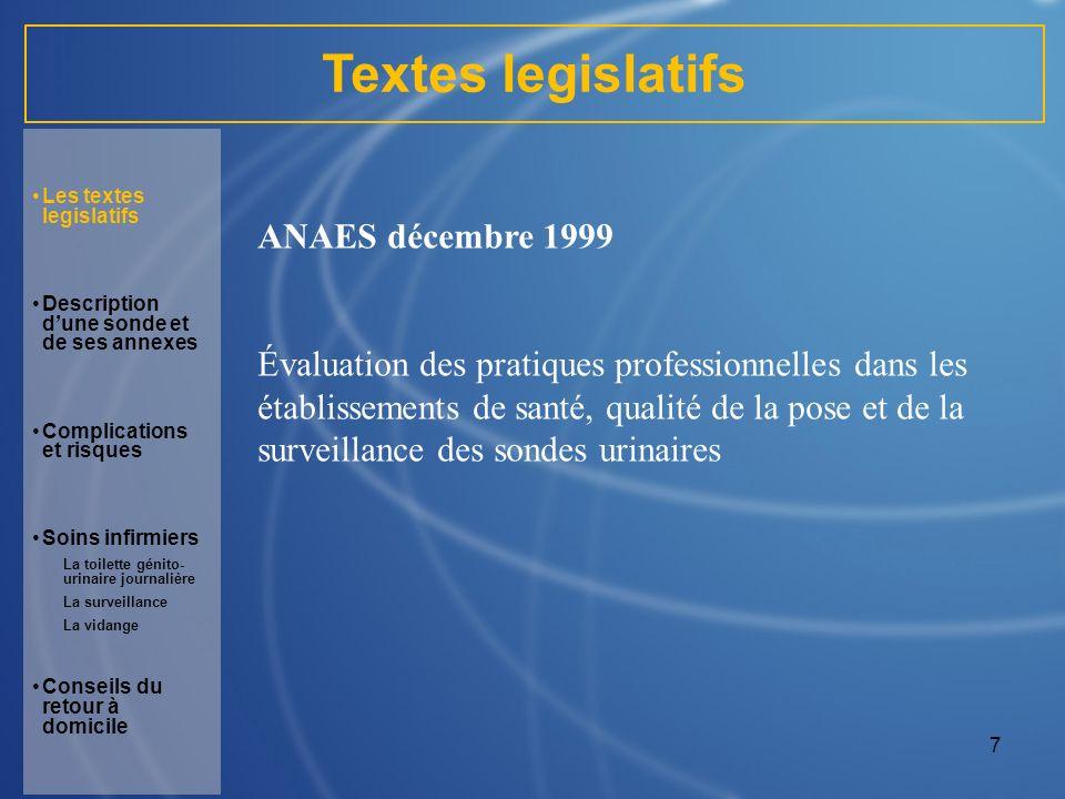 Textes legislatifs ANAES décembre 1999