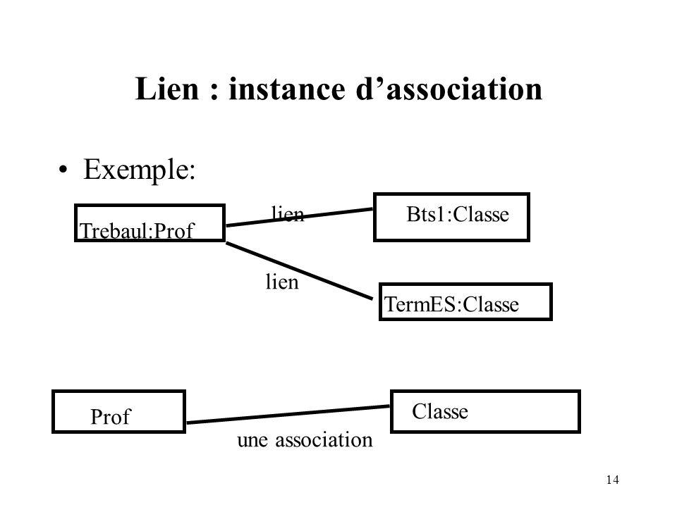 Lien : instance d'association