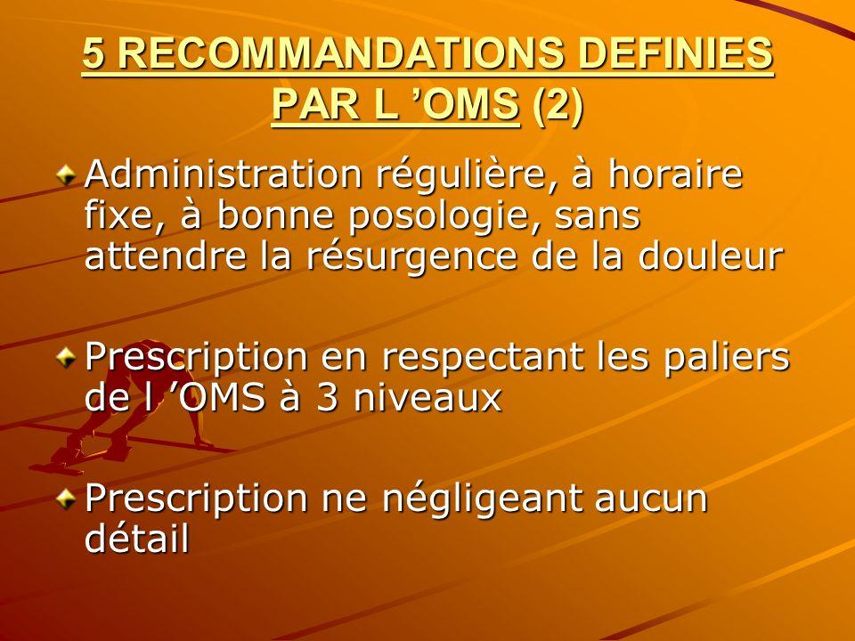 5 RECOMMANDATIONS DEFINIES PAR L 'OMS (2)