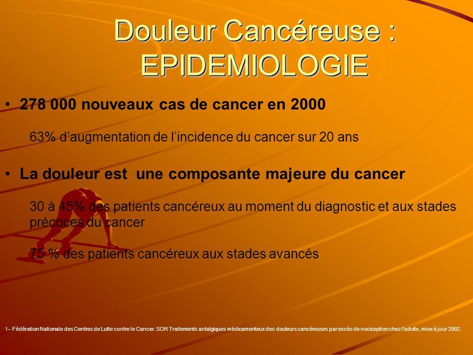 Douleur Cancéreuse : EPIDEMIOLOGIE
