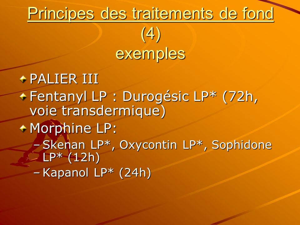 Principes des traitements de fond (4) exemples