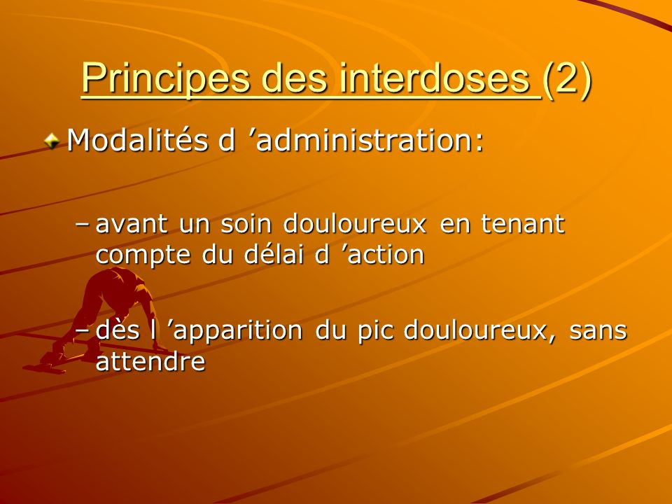 Principes des interdoses (2)