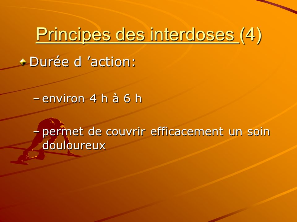 Principes des interdoses (4)