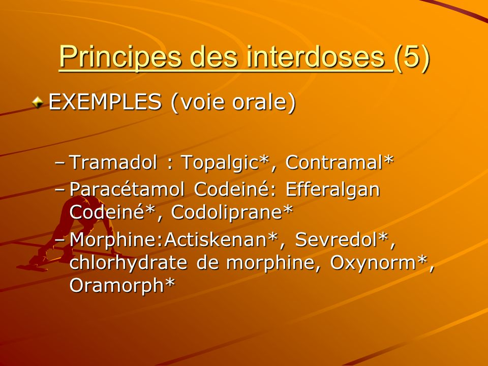 Principes des interdoses (5)