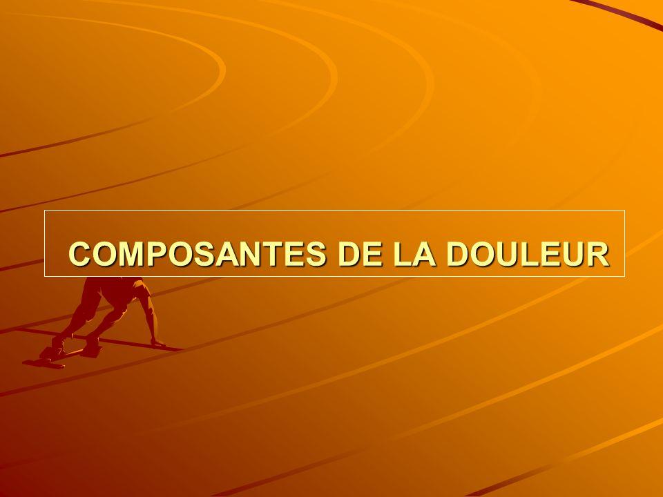 COMPOSANTES DE LA DOULEUR