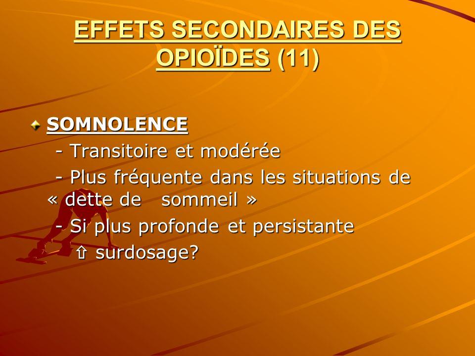 EFFETS SECONDAIRES DES OPIOÏDES (11)