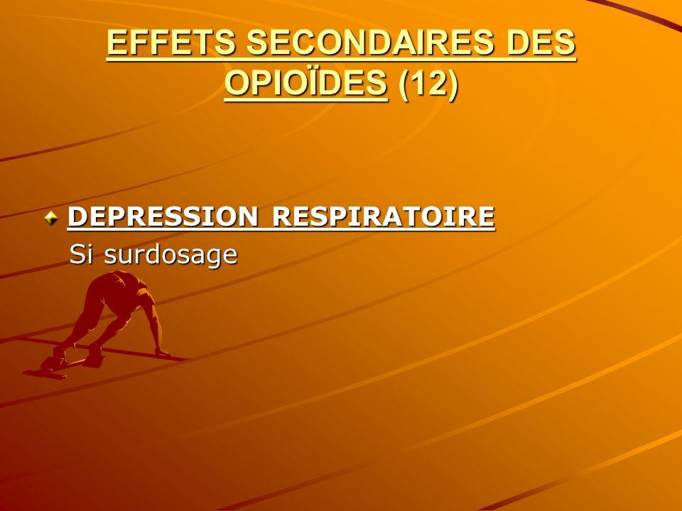 EFFETS SECONDAIRES DES OPIOÏDES (12)