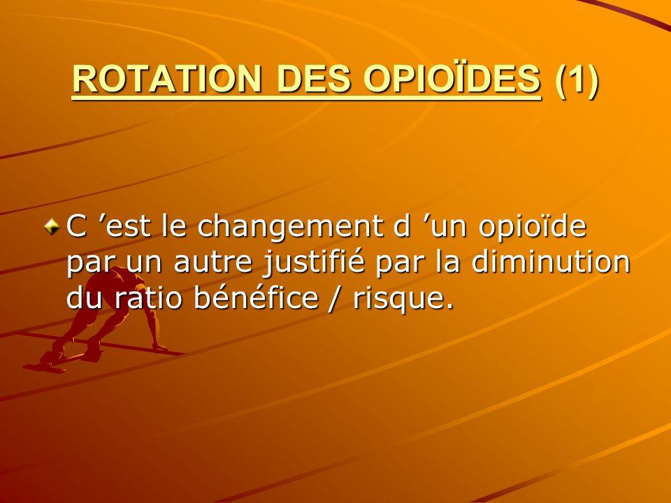 ROTATION DES OPIOÏDES (1)