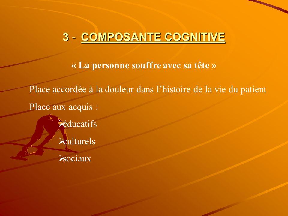 3 - COMPOSANTE COGNITIVE