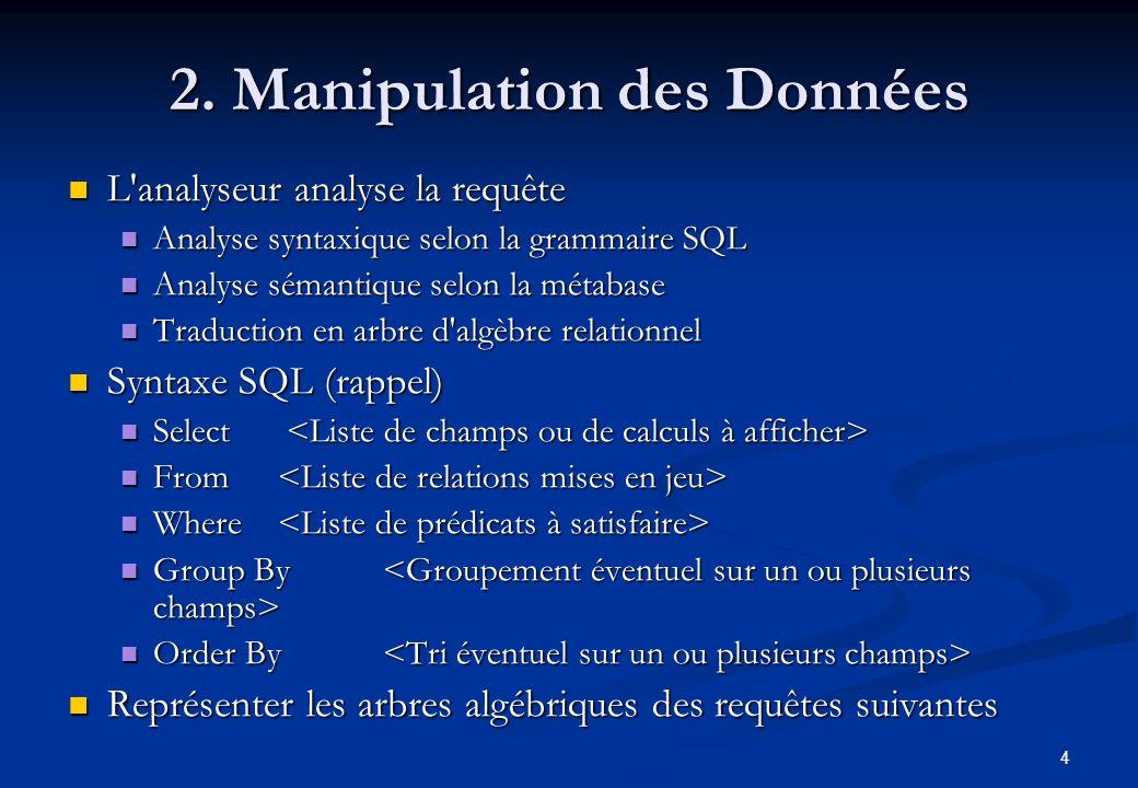 2. Manipulation des Données