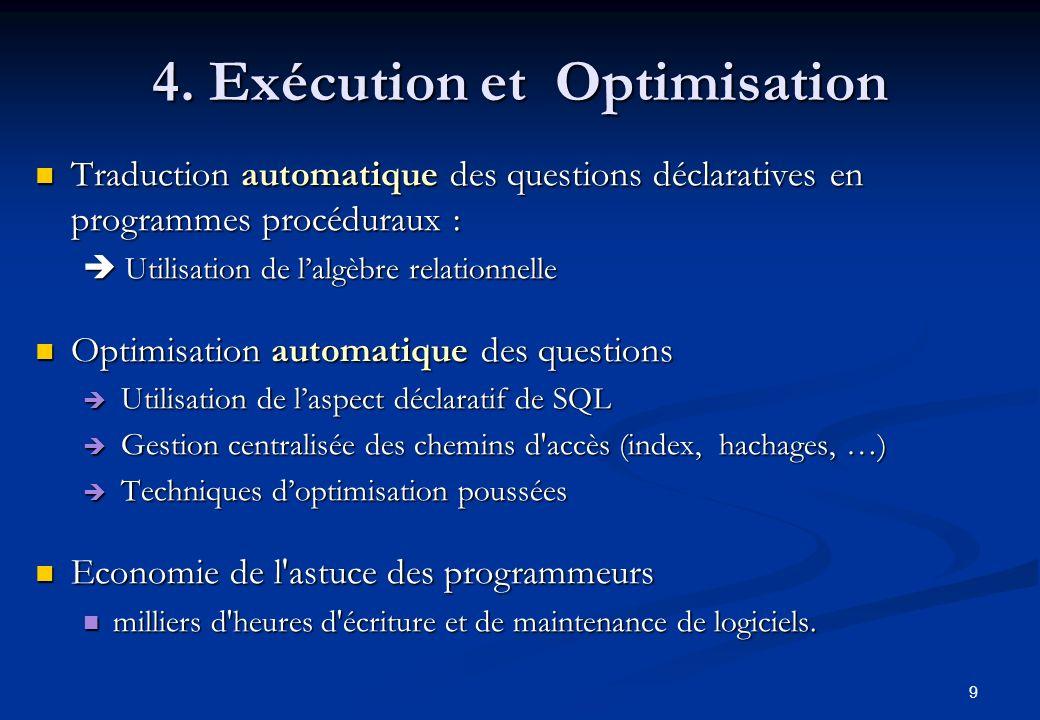 4. Exécution et Optimisation