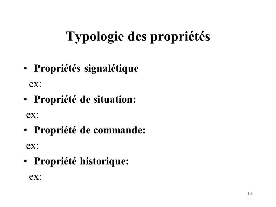 Typologie des propriétés