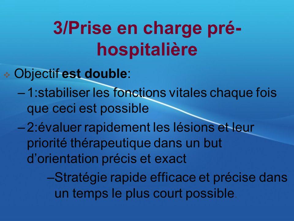 3/Prise en charge pré-hospitalière