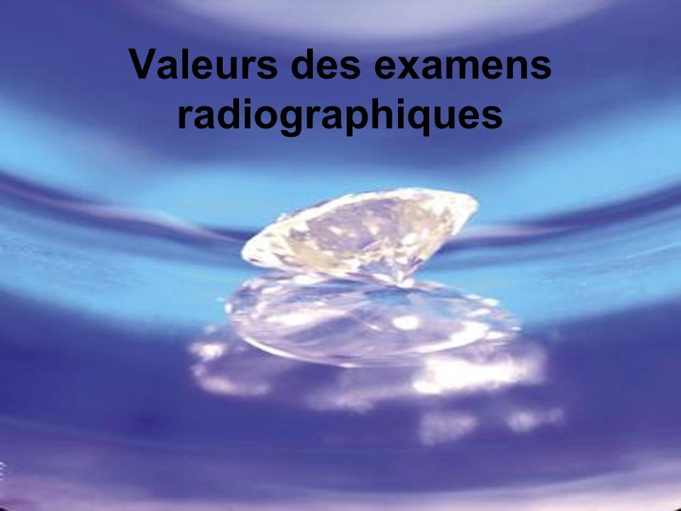 Valeurs des examens radiographiques