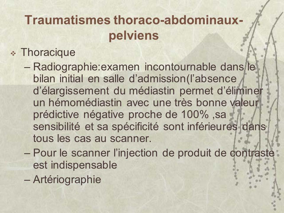 Traumatismes thoraco-abdominaux-pelviens
