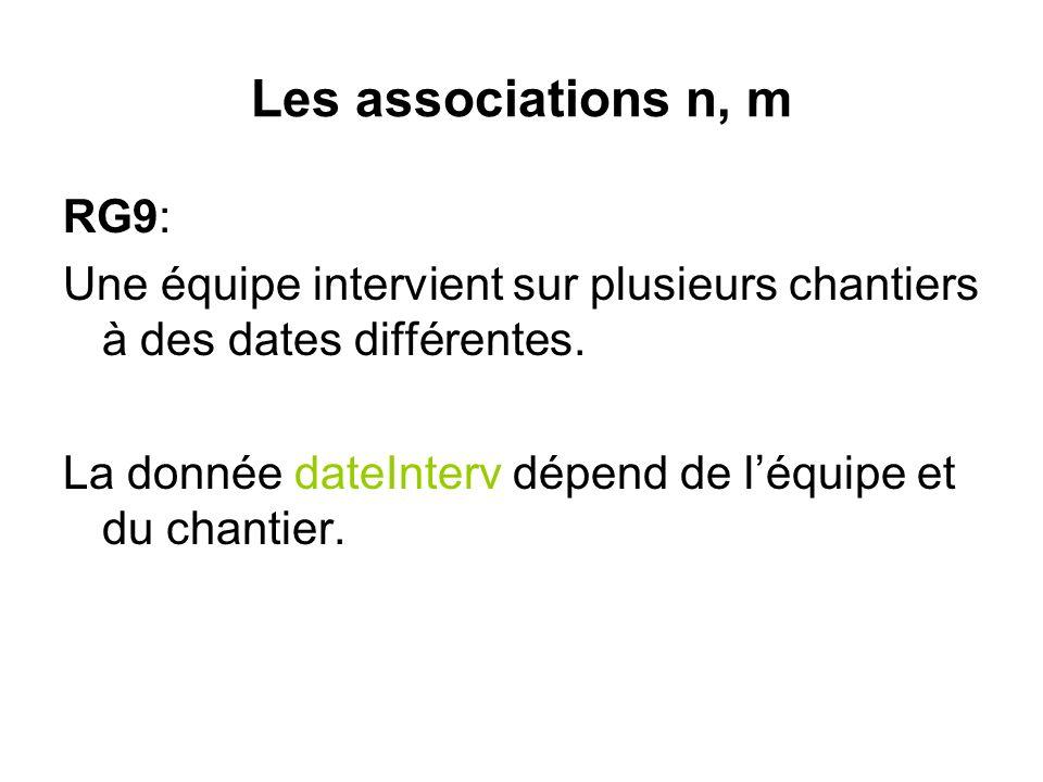 Les associations n, m RG9: