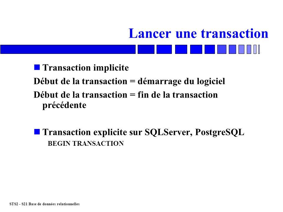 Lancer une transaction